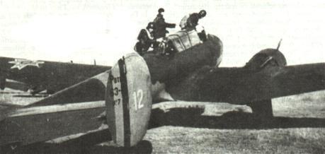 Un Potez 633B2 din Escadrila 74 la Cotul Donului, pe 14 noiembrie 1942