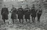 Soldiers from the 2nd Rosiori Regiment in Hungary. One can observe the large variety of submachine-guns used by the Romanian cavalry at that date: MP 40, MP 41, PPSh-41, Orita, Beretta 38 A