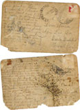 Letters written by Neculai Agiu from Fiume, Italy.