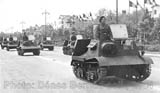 'Ford rusesc de captura' artillery tractors at the parade. Bucharest, 10 May 1943.