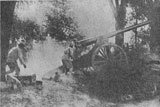 105mm gun in action