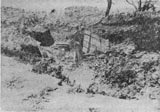 Trenches destroyed by Romanian artillery