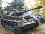 The T-4 tank in the courtyard of the National Military Museum in Bucharest