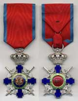 Order of the Star of Romania, Kinght class with Military Virtue ribbon