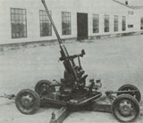 40mm Bofors antiaircraft gun model 1930.
