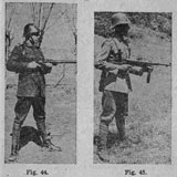 Firing stances with Schmeisser submachine guns model 28 II and model 1940.