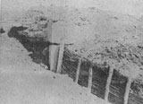Concrete fortifications destroyed by Romanian artillery