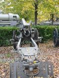 View from behind of the 100 mm Skoda model 1916 mountain gun, in the courtyard of the National Military Museum in Bucharest