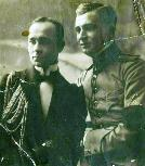 Virgiliu and Corneliu (right) Dragalina in mourning after the death of their father, general Ioan Dragalina, in 1916